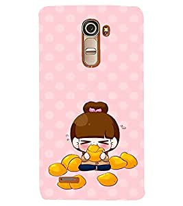 PRINTVISA Cute Cartoon Girl Case Cover for LG G4 MINI