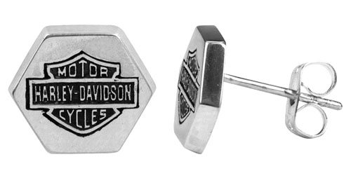 Harley Davidson® single Bolt pattern earring STUD Men's style HDE0234 by MOD®