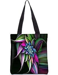 Snoogg Abstract Floral Design Digitally Printed Utility Tote Bag Handbag Made Of Poly Canvas - B01C8LWPP6