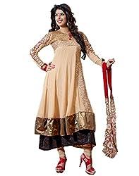 Admyrin Women Georgette Dress Material (Nh-Sk-1001 _Cream _Large)