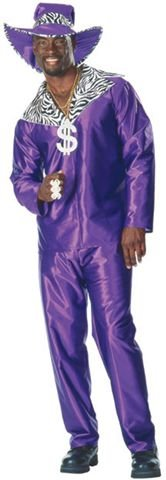 Mac Daddy Halloween Costume, Mens Pimp costume