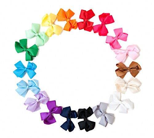 Ema Jane - Grosgrain Baby Hair Bow Clips (Headbands