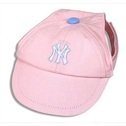 Sporty K9 MLB New York Yankees Pink Dog Cap, Large