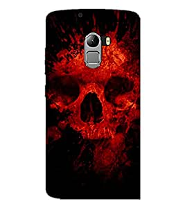 PrintDhaba Scary Skeleton D-4341 Back Case Cover for LENOVO K4 NOTE A7010a48 (Multi-Coloured)