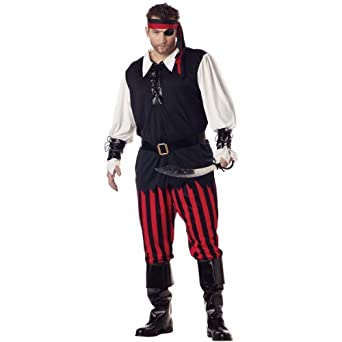 California Costume Collection Mens Cutthroat Pirate Adult Plus Costume