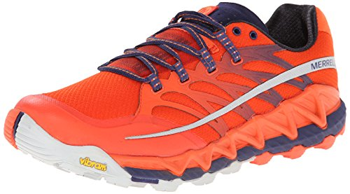 MerrellAll Out Peak - Scarpe Running uomo , Arancione (Orange (Spicy Orange/Astral Aura)), 44 EU