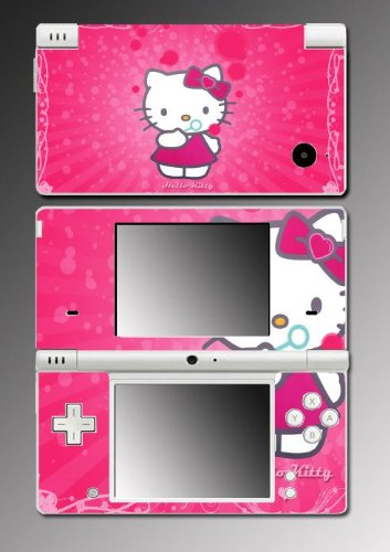 Hello Kitty Cute Pink Dress Princess Doll Vinyl Decal Skin Protector Cover 6 for Nintendo DSi