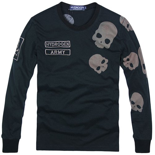 (ハイドロゲン)HYDROGEN ロンT 長袖 Tシャツ メンズ スカル ブラック M 並行輸入品