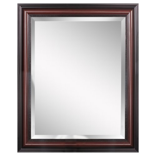 Head West Traditional Cherry Wall Mirror, 28-Inch By 34-Inch front-870754