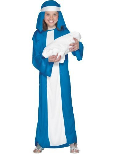 Smiffys Kids Girls Mary Nativity Christmas Play Costume Size L