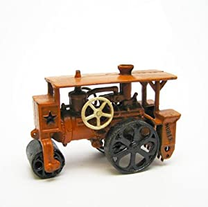 Steam Roller Replica Cast Iron Collectible Farm Toy Vintage Tractor from EttansPalace