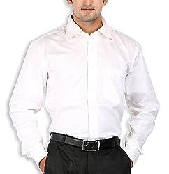 SPEAK Plain White Cotton Mens Formal Shirt