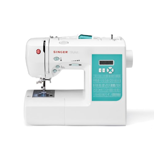 SINGER 7258 Stylist Award-Winning 100-Stitch Computerized Sewing Machine with DVD, 10 Presser Feet, Metal Frame, and More (Singer Sewing Embroidery Machine compare prices)