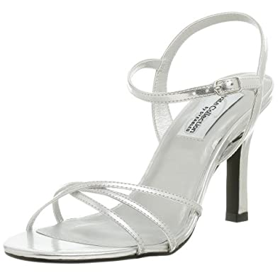 Private Collection by Dyeables Women's Riviera Sandal,Silver Metallic,5 M