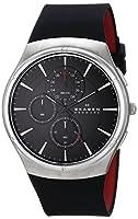Skagen Men's SKW6133 Jannik Quartz Chronograph Stainless Steel Black Watch by Skagen