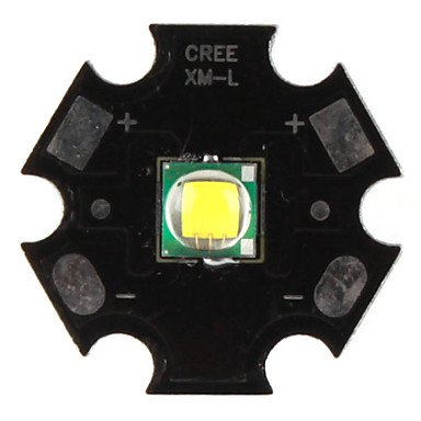 Gg Diy Cree 10W 1000Lm 7000K White Light Led Emitter With Aluminum Base (3.2-3.6V)