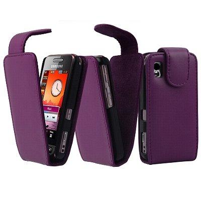 vyvy mobile® Flip Style Handytasche VIOLETT für Samsung S5230 Star FlipStyle FlipCase Klapptasche