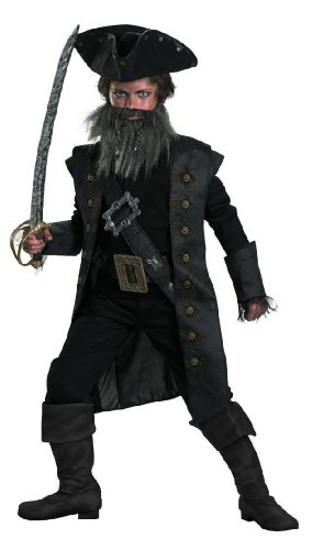 Disguise Black Beard Pirates of the Caribbean Kids Costume