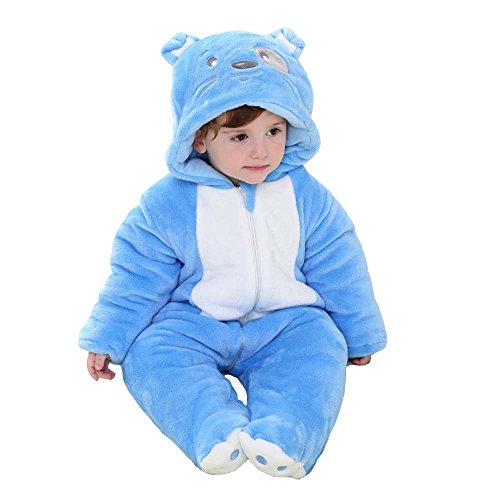 XMiniLife Halloween Thicken Infant Romper,Baby Outfit,Blue Dog