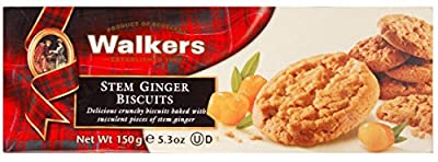 Walkers Shortbread Stem Ginger Biscuits, 5.3-Ounce Boxes (Count of 6) from Walkers Shortbread