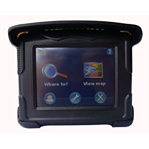 "Motorcycle & Car Waterproof 3.5"" Touch GPS Navigator Fully Loaded USA & Canada Maps"