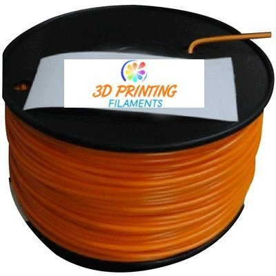 3d printing filaments-1.75mm orange abs plastic filament 1kg or 2.2lbs 3d printer kit