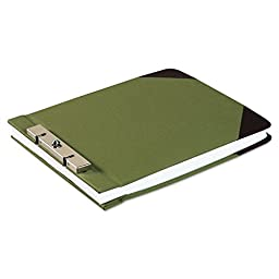 Canvas Sectional Post Binder, 8 1/2 x 11, 2-3/4 Center, Green