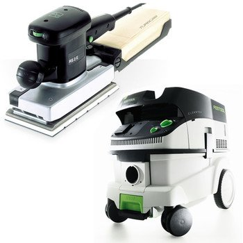 Festool P26567696 Rs 2 E Orbital Finish Sander With Ct 26 E 6.9 Gallon Hepa Mobile Dust Extractor front-527829