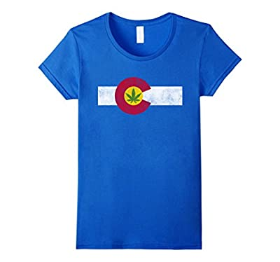 Colorado State Flag Marijuana Weed Cannabis Retro T-shirt