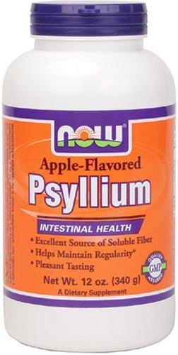 NOW Foods Apple Psyllium Fiber, 12-Ounce Bottle (Pack of 4)