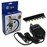 Ex-Pro 80w Advanced Laptop Notebook power supply for Car (Input 11-14v) via In-Car Adapter for Travel use, selectable fixed output voltage for HP Compaq Presario F500ea 18.5V 3.5A