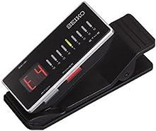 Seiko STX2 - Afinador crómatico de pinza (display LCD), color negro