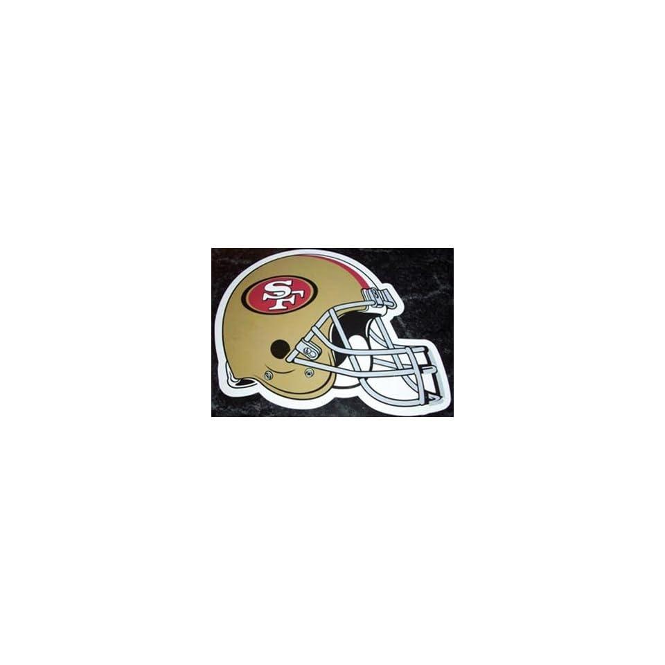 San Francisco 49ers Helmet Logo NFL Car Magnet Sports