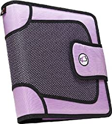 Case-it S-816 Velcro Closure Binder, Lavender