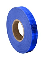 TapeCase Blue Micro Prismatic Sheeting Reflective Tape Converted from 3M 3435, 0.5\