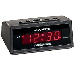 AcuRite 13002 Intelli-Time Digital Alarm Clock