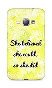 AMEZ she believed she could so she did Back Cover For Samsung Galaxy J1 (2016 EDITION)