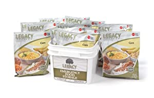 Freeze Dried Food Supply Corn - 60 Large Serving Bucket - 8 Lbs - Emergency Survival... by Legacy Premium Food Storage