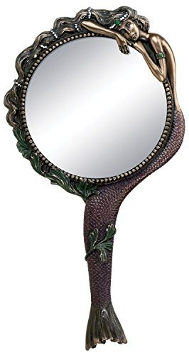Art Nouveau Collectible Mermaid Hand Mirror Nymph Decoration 1