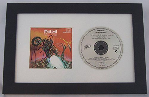 Meat Loaf Bat Out Of Hell Hand Signed Autographed Music Cd Cover Framed Display Loa
