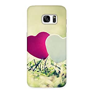 Gorgeous Heart Couple Multicolor Back Case Cover for Galaxy S7 Edge