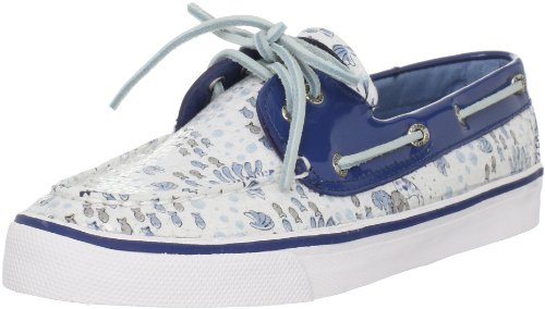 Sperry Top-Sider Women's Bahama 2-Eye Deck Shoes,Blue Poseidon Sequins,9 M US