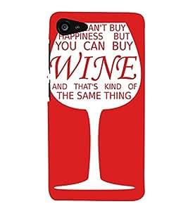Printvisa Wine Glass With A Quote Back Case Cover for Lenovo ZUK Z2