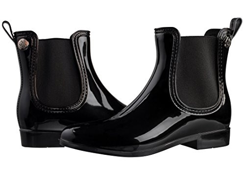Silky Toes Women's Comfort Rain Boots (37, Black) (Woman Short Rain Boots compare prices)