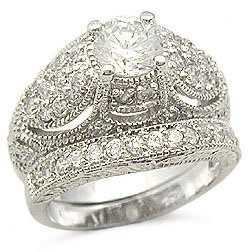 Cz Wedding Sets.Vintage Engagement Rings Cz Wedding Rings Sterling Silver Vintage