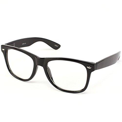 Goson Vintage Wayfarer Style Sunglasses Glossy Black
