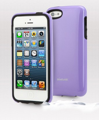Apple Iphone 5 / 5S Premium Glossy Hard Case Slim Fit Cellphone Uv Cover (Berry Violet) front-323776