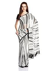 Satya Paul Gorgette Saree - B00LGDG888