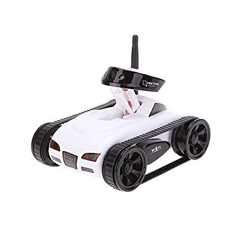 GoolRC New wifi Mini i-spy RC Tank Car RC Camera Cars Happy Cow 777-270 with 30W Pixels Camera for iPhone iPad iPod Controller-White (Remote Control Camera Car compare prices)