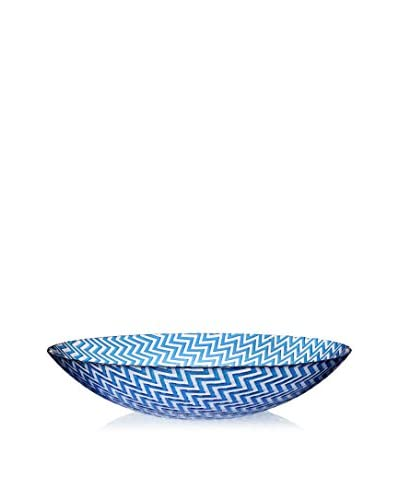 Shiraleah 16 Chevron Serving Bowl, Blue